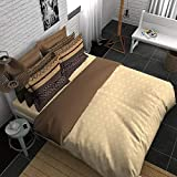 Boutique Living India AvantGarde 300TC Sateen Printed King Size (274 cm x274 cm) Bedsheet with 4 Pillow Covers