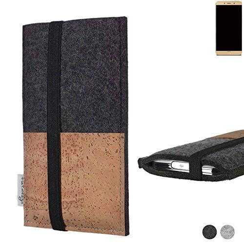 flat.design Handy Hülle Sintra für Allview X4 Soul Lite Handytasche Filz Tasche Schutz Kartenfach Case Natur Kork
