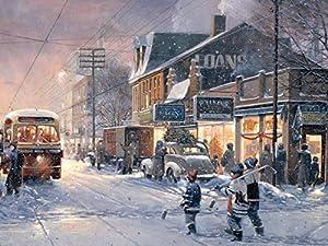 Cobblehill 88013 XL 275 Piezas Hockey Noche Puzzle, Varios