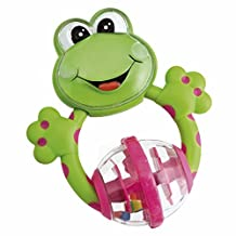 Chicco Teething Rattles Frog Baby Teether Toy [Green]