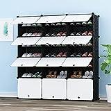 PREMAG Portable Shoe Storage Organizer Tower, Modular Schrankregal für platzsparende, Schuhregal Regale für Schuhe, Stiefel, Hausschuhe (3x 6-Tier)
