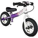 BIKESTAR® Premium 25.4cm (10 pulgadas) Bicicleta sin pedales para pequeños aventureros a partir de 2 años ★ Edición Sport ★ Lila & Blanco