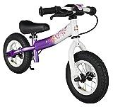 BIKESTAR Kinder Laufrad Lauflernrad Kinderrad für Mädchen ab 2-3 Jahre ★ 10 Zoll Sport Kinderlaufrad ★ Lila & Weiß