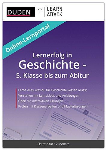 Duden Learnattack - Lernerfolg in Geschichte - 5. Klasse bis zum Abitur (12 Monate Flatrate)