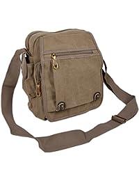 b46f8232a0676 Canvas Kleine Messenger Bag Umhängetasche Schultertasche Unitasche Casual  Freizeit Tasche Reisetasche…