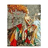 Image beauté Lady Peinture Bricolage par des numéros coloré Image Home Decor pour Le Salon Main Cadeaux Uniques 60x75cm