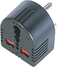 Mx Conversion MX1359 Plug Converts 5 Amps To 15 Amps 3 Socket with Child Safety Shutter with Indicator