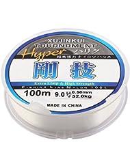 Transparente Pez Carrete Resistente Sedal 100m Dia 0.5mm