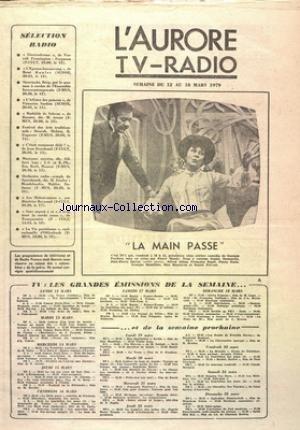 AURORE TV RADIO (L') du 12/03/1979 -...