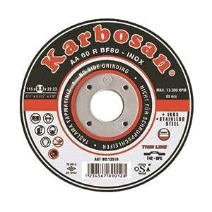Disque à tronçonner l'acier et l'inox Karbosan - 115 mm