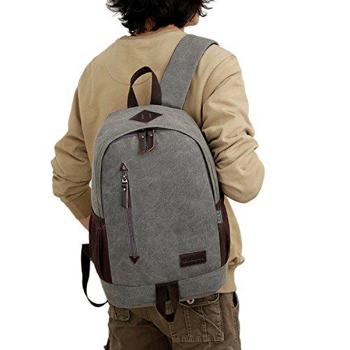 Outreo Rucksack Freitag Backpack Schulrucksack Vintage Rucks?cke Herren Laptoprucksack Weekender Tasche Daypack Outdoor Sporttasche Reiserucksack f¨¹r Schul Uni Schultaschen Canvas Grau