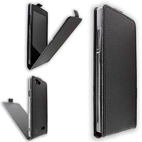 caseroxx Hülle/Tasche Flip Cover passend für Medion Life E5005 MD 99915, Schutzhülle (Handytasche klappbar in schwarz)