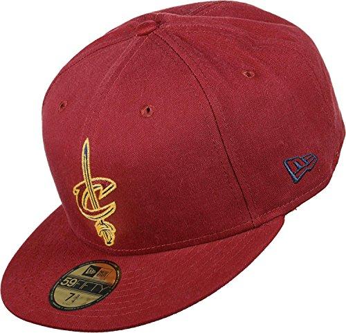 New Era 59Fifty Chain Stitch NBA Cleveland Cavaliers New Era Cap rot 7 3/8 (Cap Hut Nba)
