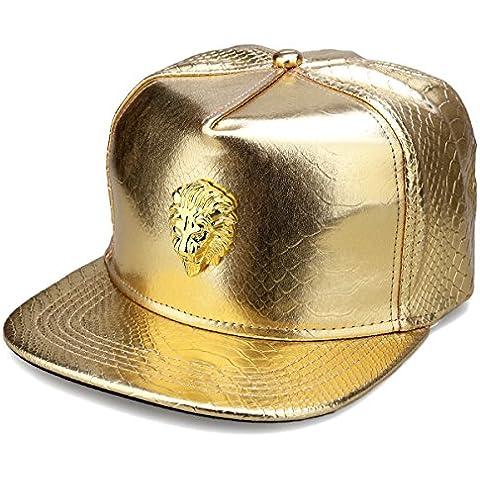 MCSAYS Hip Hop fuori ghiacciato Lion Head PU corda cera Sport berretti da baseball / cappello Man (gold)