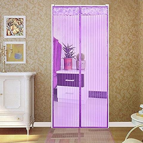 rugai-ue Mosquito Vorhang Fenster Bildschirm Vorhang Haushalt Partition Verschlüsselung leise Sommer Küche magnetisch Weiche Bildschirm Tür Vorhang, violett