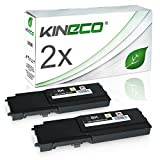 2 Toner kompatibel für Dell C2660DN, C2665DNF, C2600 Series - 593BBBM - Schwarz je 3.000 Seiten