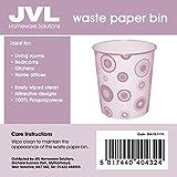from JVL JVL Novelty Fun Plastic Waste Paper Bin Basket, Circles - 25 x 25 x 26.5 cm Model 15-117A