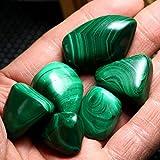 GOZAR 6Pcs Grüne Malachit-Heilende Trommelstein-Diy Schmucksache-Dekoration-Verzierung