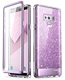 i-Blason Coque Galaxy Note 9, Coque Complète Paillette Brillante Glitter Bumper avec Protecteur d'écran Intégré [Série Cosmo] pour Samsung Galaxy Note 9 2018 (Violet)