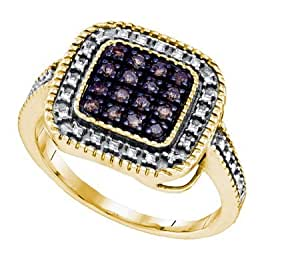 Gift and Jewels - Anneau argent 925 plaqu? or jaune