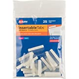 Avery Index Tabs with Printable Inserts, 1-Inch, 25 Tabs (16221)