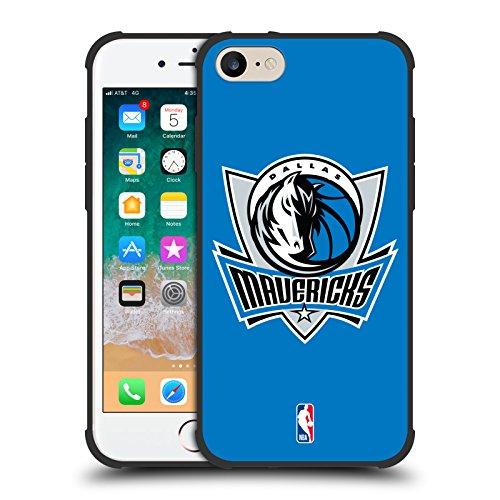 Head Case Designs Offizielle NBA Einfach Dallas Mavericks Schocksichere Matt Schwarze Huelle kompatibel mit iPhone 7 / iPhone 8