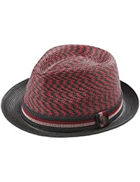 a2d5605520580 Dasmarca Adrian Multi-Coloured Foldable Packable Summer Braided Straw Trilby  Hat