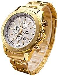 Xinantime Relojes Hombre,Xinan Reloj de Acero Inoxidable Cuarzo Analógico Movimiento Relojes de Pulsera (