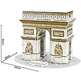 NiXiM 3D puzzle Arco del Triunfo 26 cm de largo - modelo de arquitectura