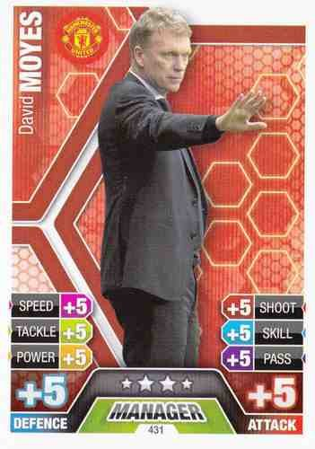 Match Attax 2013/2014 David Moyes Manchester United 13/14 Manager