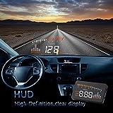KKmoon Voiture HUD universel Interface Afficheur Tête Haute KM/h & MPH vitesse Avertissement pare-brise réglage automatique de la luminosité conduite sans éblouissement