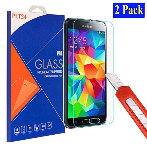 galaxy s5 schutz 2X plt24 Samsung Galaxy S5 / S5 neo Ultra-Klar Glasfolie Panzerglas Schutzfolie Displayschutzglas Schutzglas Hartglas für Samsung Galaxy S5 / S5 neo (2 Stück)
