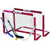 Deluxe Mini Hockey Goal Set