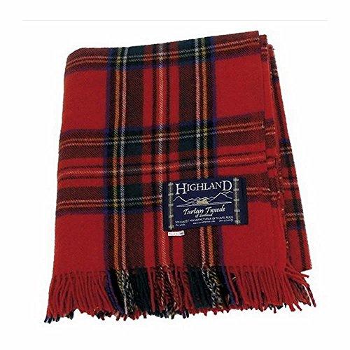 Highland Tartan Tweeds of Scotland - Coperta 100% tartan scozzese, ideale per picnic, Royal Stewart