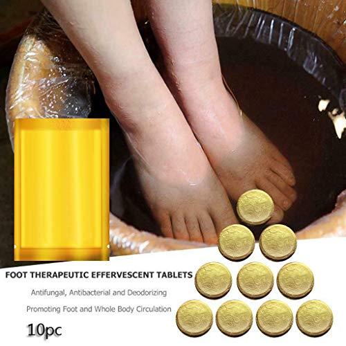 LCLrute Ginger Soak Effervescent, Natürliches Kräuterfußbad,Gesundheit Zerstreuen Kälte,Müdigkeit Beseitigen, Schlaf Verbessern, Fußpflegebehandlung (Ingwer, 10 Stück) -
