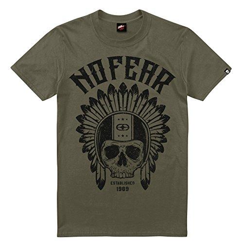 No Fear Herren T-Shirt Native Rider Green (Military Green)