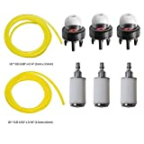 OuyFilters Fuel Lines with Fuel Filters Primer Bulbs for Poulan Weedeater Craftsman Stihl Echo String Trimmer Chainsaw Blower