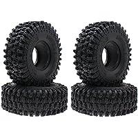 INJORA 4PCS 1,9 Neumáticos para 1:10 RC Rock Crawler Axial SCX10 90047 D90 D110 TF2 Tamiya CC01 Traxxas TRX-4