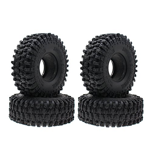 INJORA 4 Stücke 1,9 RC Crawler Reifen, Reifen Set für Axial SCX10 90047 RC4WD D90 D110 TF2 Tamiya CC01 Traxxas TRX-4