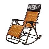 L&J Klappbarer schaukelstuhl,Tragbare Liegestühle Verstellbare Liege für Balkon-Picknick am Strand freibad gartenhof,Belastung 200kg,Balkonstuhl -C