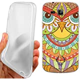 CUSTODIA COVER CASE GUFO ETNICO PER SAMSUNG GALAXY TREND PLUS S7580