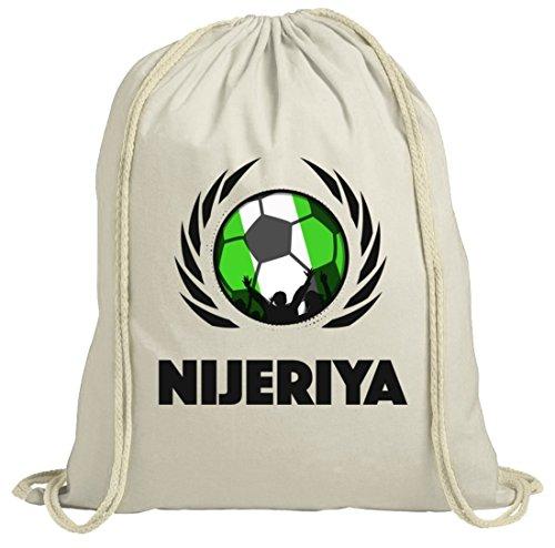 Nijeriya Wappen Soccer Fussball WM Fanfest Gruppen Fan natur Turnbeutel Gym Bag Fußball Nigeria Natur