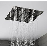 Hudson Reed - Pommeau De Douche 28 x 28cm Encastrable Plafond Design Carré Pluie Bienfaisante