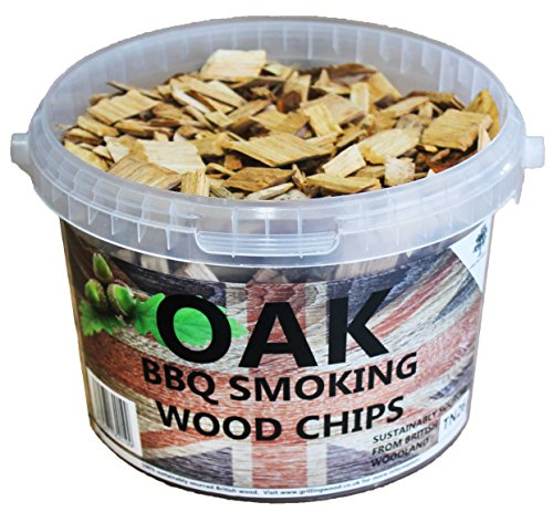 3 Litre BBQ Smoking British Wood Chips (Oak)