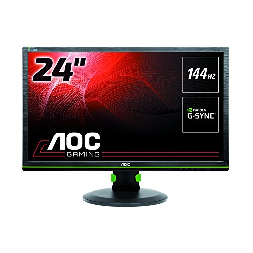 AOC 24 inch G-SYNC 144 Hz LED Gaming Monitor, 1 ms Response Time, Height Adjust, Display Port, 4 x USB Ports, Vesa G2460PG