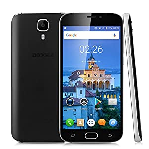DOOGEE X9 Pro 5.5 inch Large ScreenFront Facing Fingerprint Recognition 4G Smartphone Android 6.0 Marshmallow MT6737 Quad Core Mobile Phone 2GB RAM 16GB ROM 3000mAh Smart Wake Gesture Sensing Dual SIM Cellphone (Black)