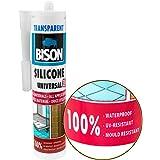 Mastic silicone transparente, universel Mastic Enduit d'élasticité permanente. résistant à l'eau d'étanchéité sur une base d'acide acétique. Peut être utilisé en intérieur et en extérieur. résistant aux UV et aux intempéries. résistant aux moisissures, résistant à l'eau (mer), Résistant aux températures à partir de -30Celsius à + 150Celsius, séchage rapide, facile à appliquer. contenu Suffisante pour environ 14m Joint 6x 6mm. non à peindre.