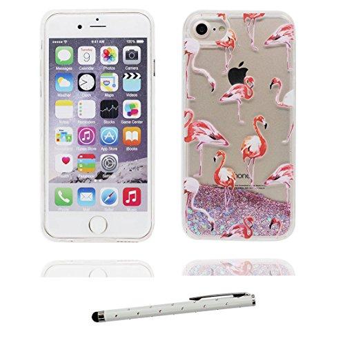 "iPhone 6 Plus Hülle, iPhone 6S Plus Handyhülle Cover 5.5"", (Mädchen Umbrella) Liquid Fließendes Glitzer Bling Bling Star Floating sparkles, iPhone 6 Plus Case 5.5"", Shell Anti-Beulen & Touchstift # 5"