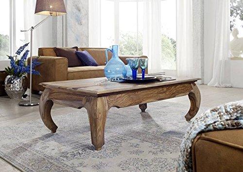 Table basse 130x75cm - Bois massif de palissandre laqué - Inspiration Ethnique-Coloniale - OPIUM #632
