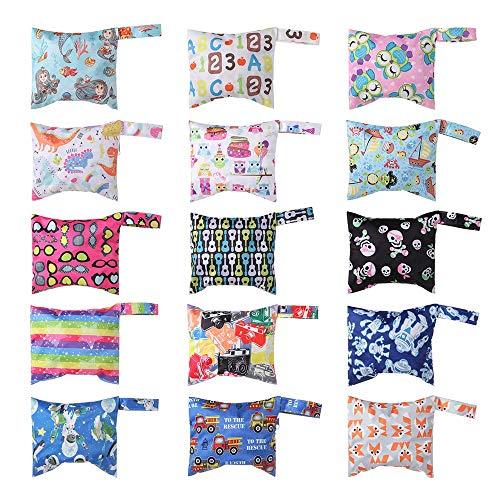 liaini 1pcs Nappy Pouch Exquisit Kleidung wiederverwendbar Baby Care Mode Gedruckte Tasche Tasche für Windeln Wasserdicht Zubehör für Kinderwagen